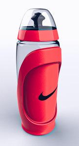 3D nike sports bottle