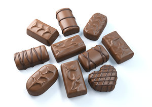 chocolate candies 3D model