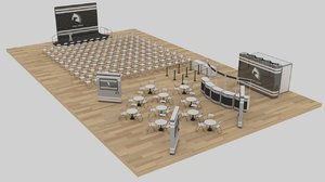 exhibition promotion venue layout 3D