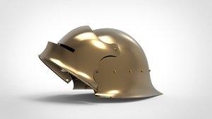 3D german gothic sallet helmet