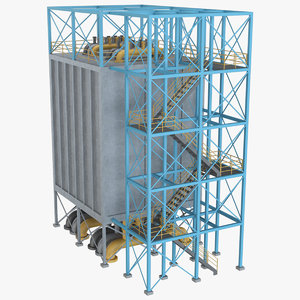 3D industrial element 5 model