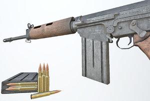 3D model pbr rifle