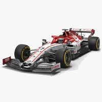 3D model alfa romeo racing f1