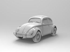 beetle car 3D model