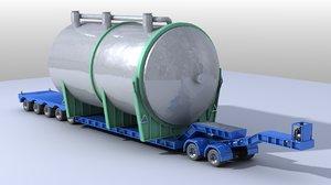 trailer heavy 3D model