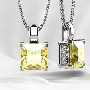 3D printing gemstones pendant