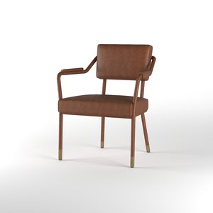 easton dining chair objects 3D model
