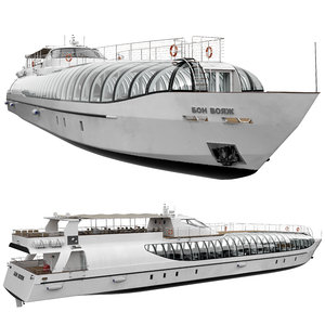radisson royal flotilla yacht 3D
