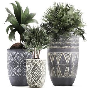 houseplants plants interior 3D