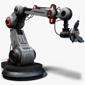 3D robotic manipulator gameready