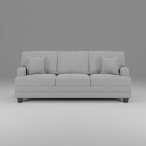 basset cu 2 sofa 3D model
