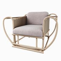 Zanaboni Ediziony - green channel armchair