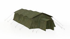3D military tent model