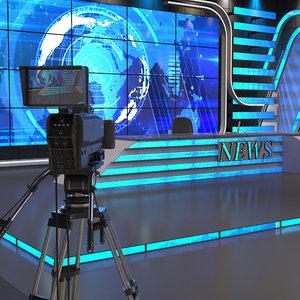 3D studio news tv