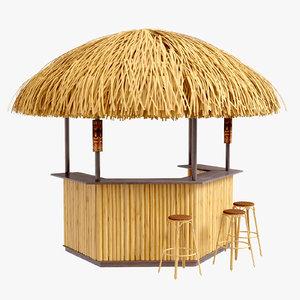 porter bamboo 3 tiki 3D model
