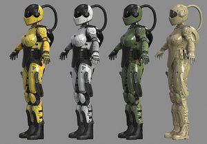 pbr armor 3D model