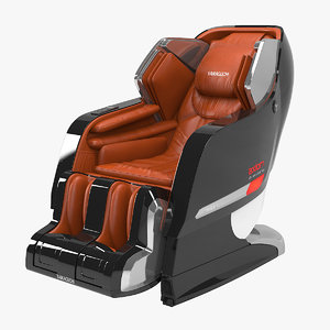 yamaguchi axiom chrome massage chair 3D model