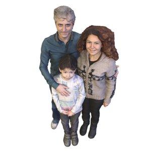 3D family trio model