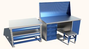 3D industrial table model