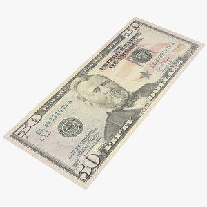 fifty dollar bill model