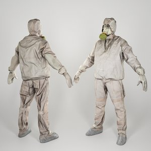 3D liquidator nuclear chernobyl a-pose