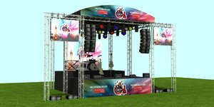 3D outdoor concert stage model