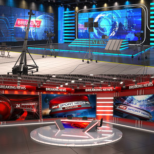 news tv studios model