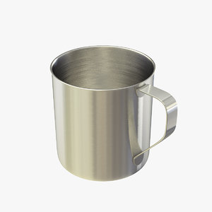 3D mug stainless steel