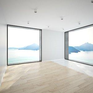 3D scene modern interior