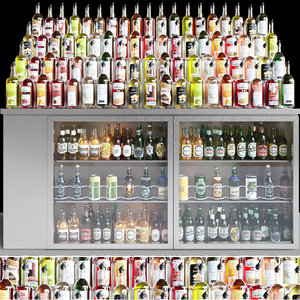 3D alcohol showcase model
