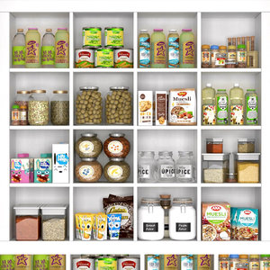 food cupboard 3D model