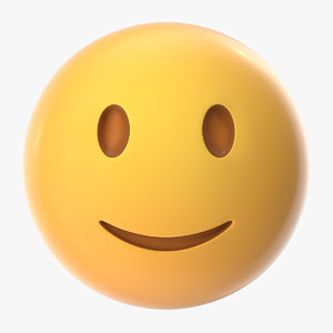 slightly smiling emoji 3D model