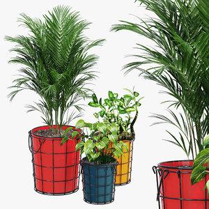 3D farmstead planters