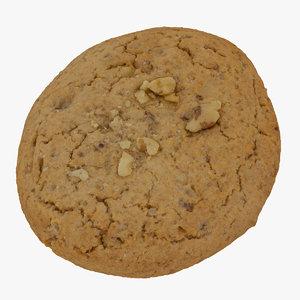 3D cookie walnuts 01 raw model