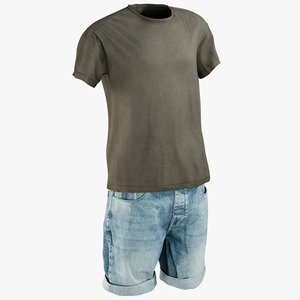 realistic men s shorts model