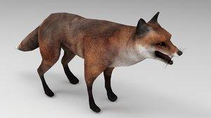 red fox 3D