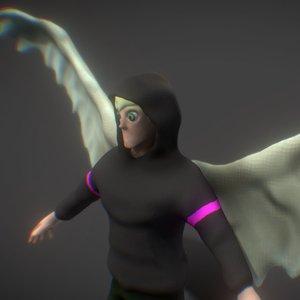 3D angel human