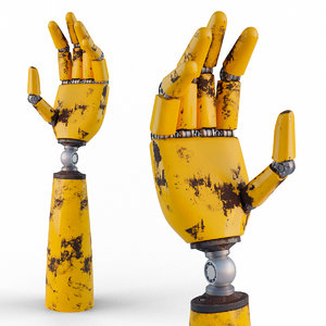 robotic hand arm 3D model