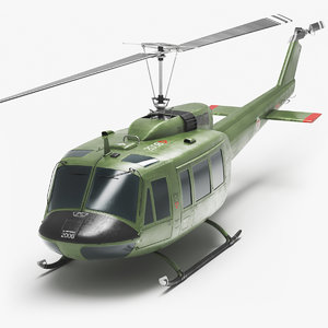 bell uh-1 helicopter 3D