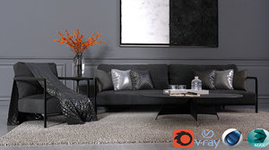 3D modern living room vol4