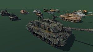 tank howitzer 3D model
