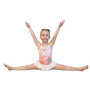 3D little ballerina sitting model