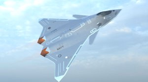 fa-xx fifth generation fighter jet 3D