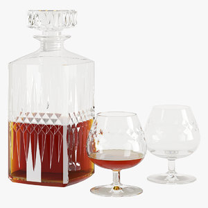 3D decanter glasses model
