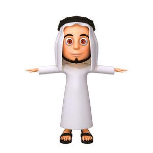 arab man cartoon 3D model