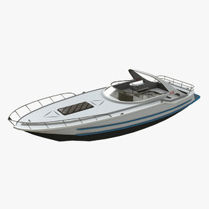 speedboat boat pbr 3D model