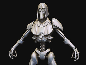 3D eg5 hunter droid model