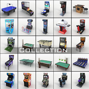 arcade machines 2 basketball 3D model