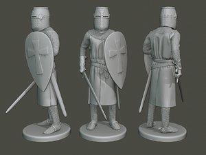 knight templar stand2 t1 3D