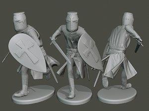 3D knight templar action2 t1 model